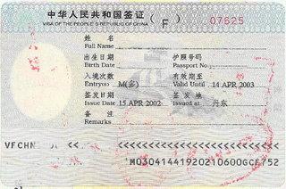 Fビザ(マルチ)… 中国ビジネス コンサルタント
